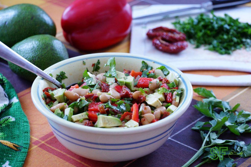Сытный фасолевый салат фото и рецепты
