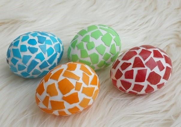 Декорируем яичной скорлупой
