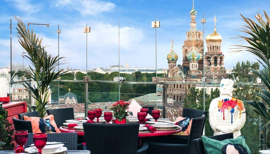 Летняя терраса ресторана Китайская Грамота