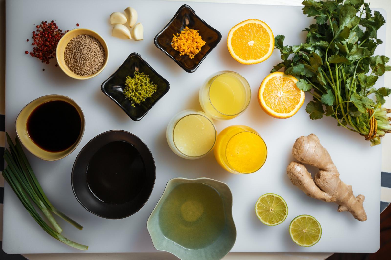 Ингредиенты для тартара