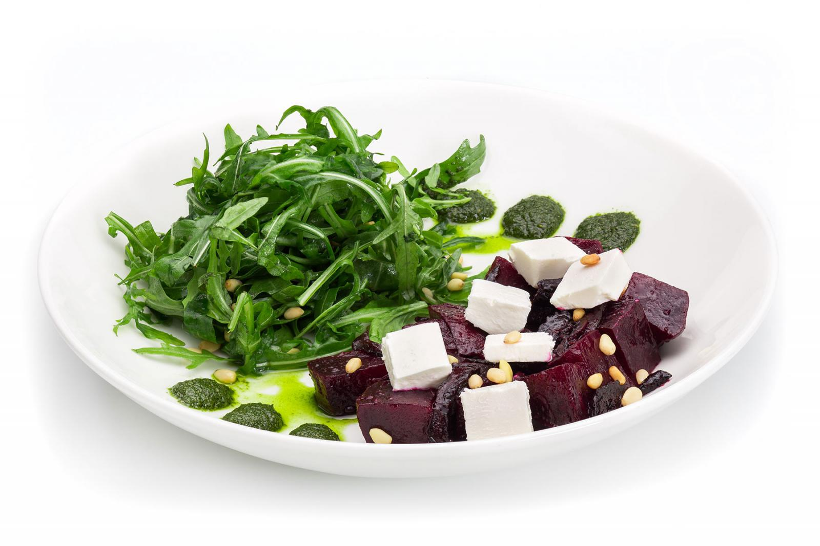 roasted beetroot and feta cheese salad