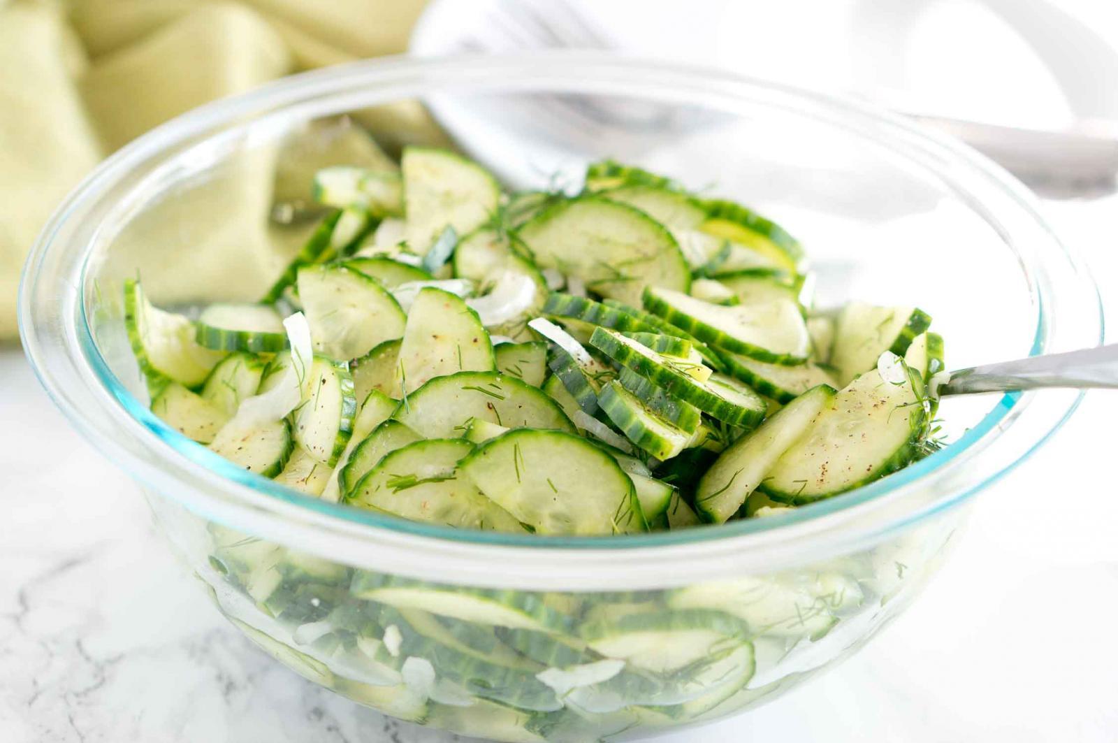 Салат из свежих огурцов на лето фото и рецепты