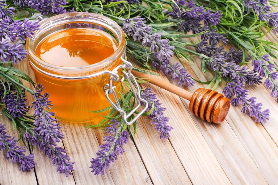 Баночки с лавандовым мёдом