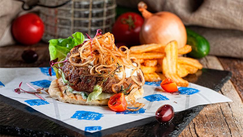 Греческий бургер с фетой